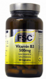 FSC 500mg Niacinamide Vitamin B3 60 Capsules for Joint Health